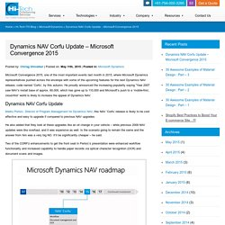 Dynamics NAV Corfu Update - Microsoft Convergence 2015