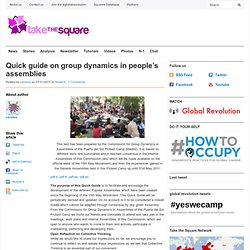 Quick guide on group dynamics in people's assemblies