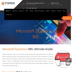 DynamicsDynamics CRM, NAV, FO, Business Central, Finance and Operation 365 license in Georgia and Atlanta