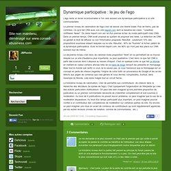 Dynamique participative : le jeu de l'ego