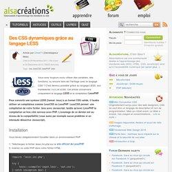 Des CSS dynamiques grâce au langage LESS