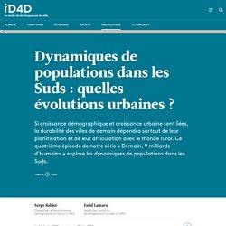 Les dynamiques urbaines de populations dans les Suds