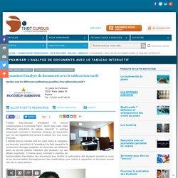 Dynamiser l'analyse de documents avec le tableau interactif