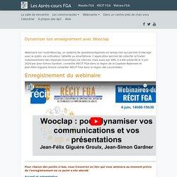 Dynamiser son enseignement avec Wooclap – Après-cours FGA