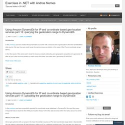 Exercises in .NET with Andras Nemes