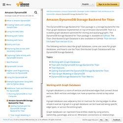 Amazon DynamoDB Storage Backend for Titan