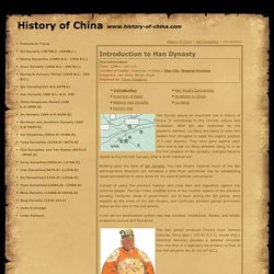 the importance of han dynasty in the history of china Introduction the western han dynasty holds a significant position in ancient  china  by future generations plays an important role in chinese culture history.