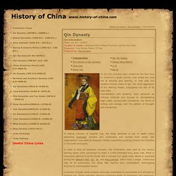 Qin Dynasty, Qin Dynasty History, History of Ancient China