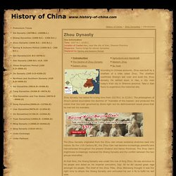 Zhou Dynasty, Zhou Dynasty History, History of Ancient China, China's dynasties