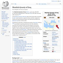Mamluk dynasty of Iraq