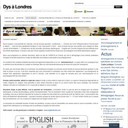 Dys et anglais