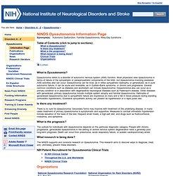 Dysautonomia Information Page