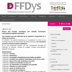 Dyscalculie – Fédération Française des DYS