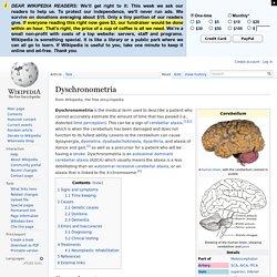 Dyschronometria
