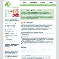 Le syndrome de dysfonction non-verbale (sdvn) trouble d'apprentissage chez l'enfant