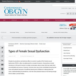 Types of Female Sexual Dysfunction