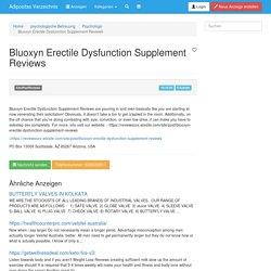 Bluoxyn Erectile Dysfunction Supplement Reviews - Psychologe