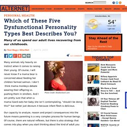 Which of These Five Dysfunctional Personality Types Best Describes You?