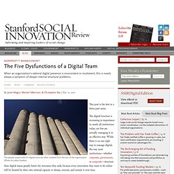 The Five Dysfunctions of a Digital Team