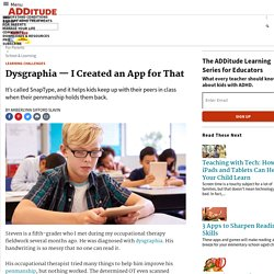 Dysgraphia Treatment: An App for Kids with Poor Penmanship