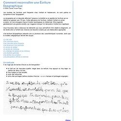 Marie SIRICA - Dysgraphie - troubles et difficultés de l'écriture
