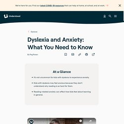 Dyslexia and Anxiety in Children