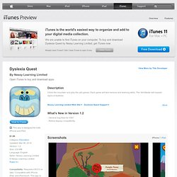 Dyslexia Quest on the App Store on iTunes