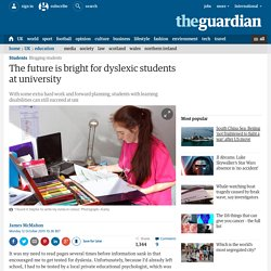 The future is bright for dyslexic students at university