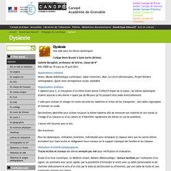 Dyslexie - Canopé Académie de Grenoble