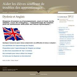 Dyslexie et Anglais