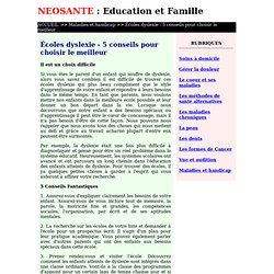 Écoles dyslexie - 5 conseils pour choisir le meilleur