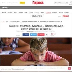 Dyslexie, dyspraxie, dysphasie... Comment savoir si mon enfant est concerné?