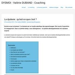 La dyslexie : qu'est-ce que c'est ? - Valérie DUBAND