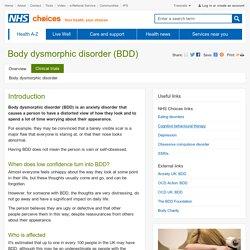 Body dysmorphic disorder (BDD)