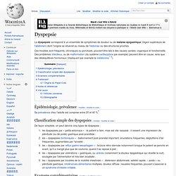 Dyspepsie