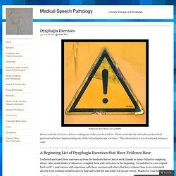 Medical Speech Pathology
