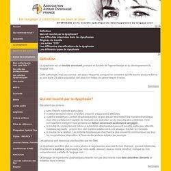 La dysphasie, qu'est-ce que c'est ? - Dysphasie.org