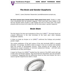 The Brain and Gender Dysphoria