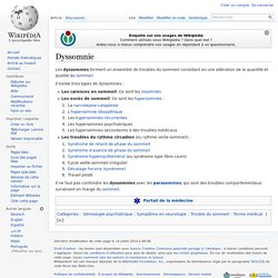 Dyssomnie