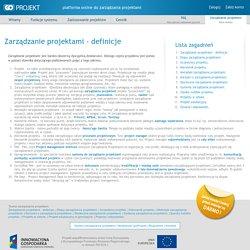 Zarządzanie projektami - definicje
