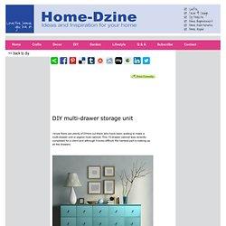 DIY multi-drawer storage unit
