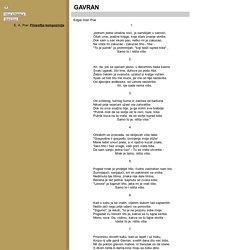 E. A. Poe: Gavran