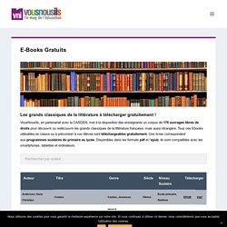 Vousnous ils : les grands classiques de la littérature à télécharger gratuitement !