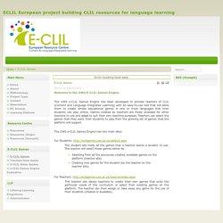 E-CLIL Games