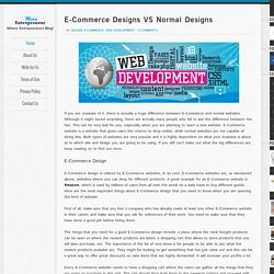 E-Commerce Designs VS Normal Designs