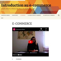 Introduction au e-commerce