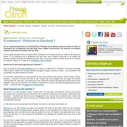 E-commerce : Pinterest ou Facebook ?