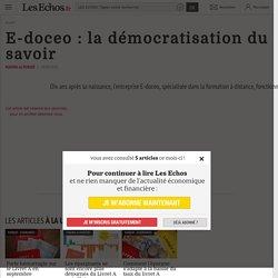 E-doceo : la démocratisation du savoir, Innovation et Recherche