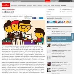 Teaching and technology: E-ducation