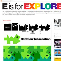 E is for Explore!